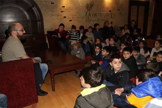 On Tumanyan's day Cinema house was crowded with bright children